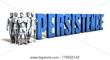 Persistence Business Concept as a Presentation Background 3D Illustration Render