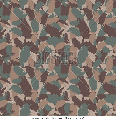 Original USA shape camo seamless pattern. Colorful America urban camouflage. Vector fabric textile print design.