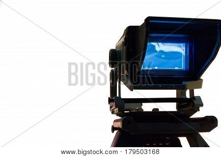 Video camera Video player on white background