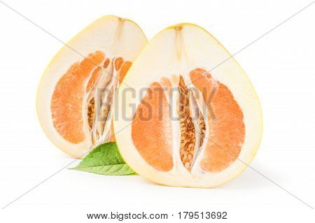 Citrus maxima isolated on a white background cutout