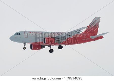 SAINT PETERSBURG, RUSSIA - FEBRUARY 25, 2017: Airbus A319-112