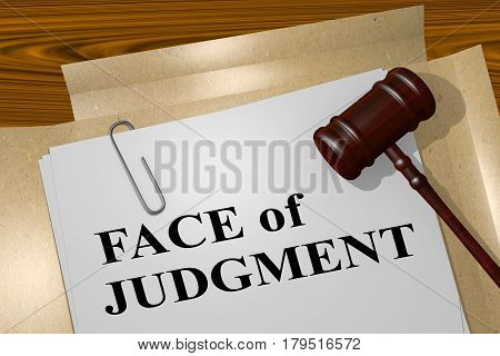 Face Of Judgment - Legal Concept