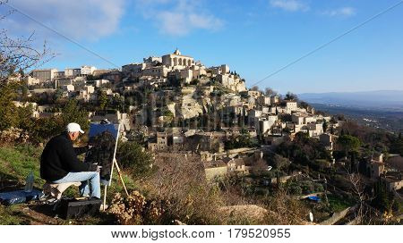 Gordes Medieval Village Built On A Rock Hill