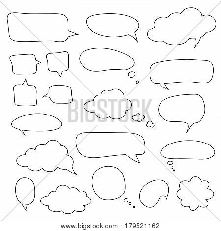 Set of speech bubbles and dialog balloons. Collection of Vector simple elements for your design EPS10