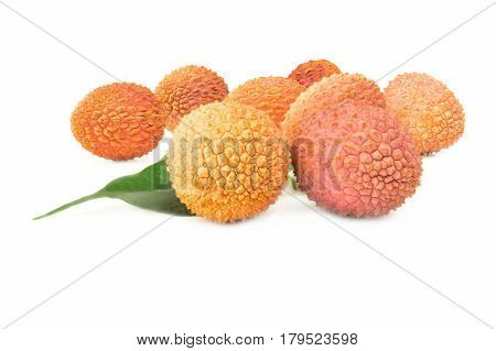 Lychee isolated on a white background with clipping path