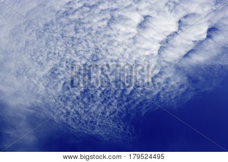 Formation Of Cirrocumulus Clouds In The Sky