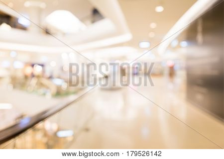 Department store interior background with bokeh