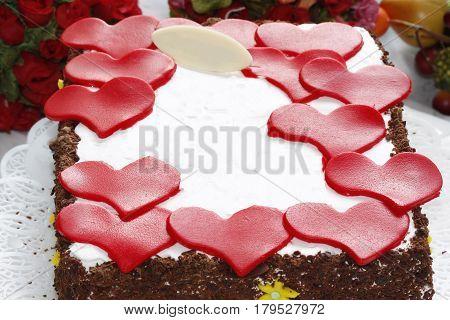 heart shape cake fondant sweet  valentine decoration