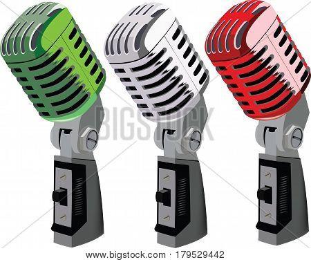 Italian tricolor Italian radio microphones Italian tricolor Italian radio microphones