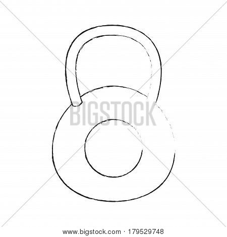 kettlebell weights icon image vector illustration design  black sketch line