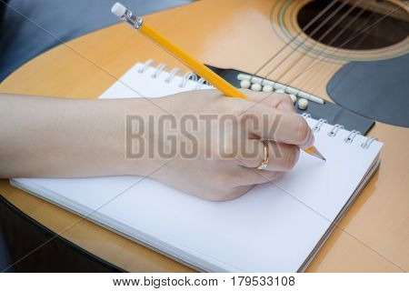 Relaxing Time With Classical Acoustic Guitar stock photo