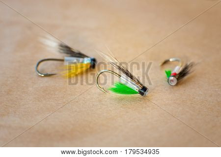 Macro shot of a fly fishing fly, Hitch