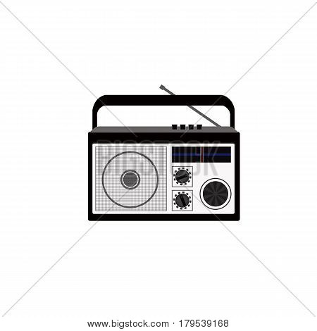 Radio on white background  Radio on white background