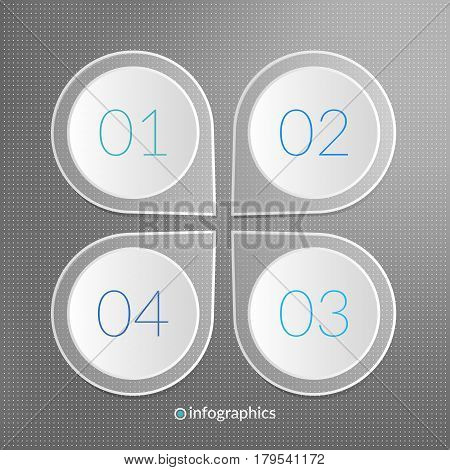 One two three four step vector infographics. 1 2 3 4 progress symbols. Marketing icons. Business illustration