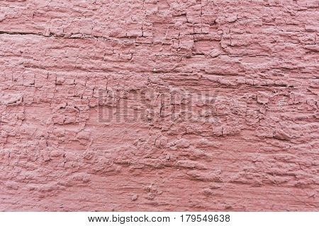 Background of old pink pelling texture paint