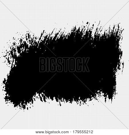 Hand drawn circle shape. Label, logo design element. Brush abstract wave. Vector illustration.