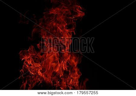 fire flames. fire flames in black background