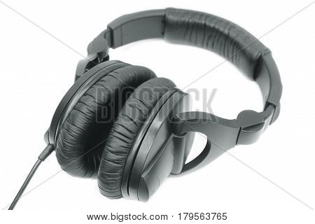 Stereo headphones isolated on a white background.