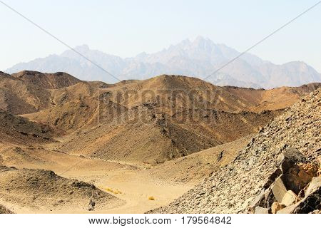 Landscape with views of the Red Sea mountains