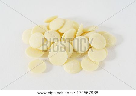white chocolate drops
