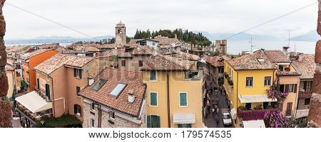 View Of The City From Castello Scaligero Wall In Sirmione