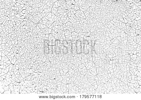 Fine cracks in the coating on the metal surface - grunge texture