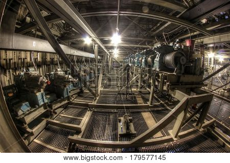 Engines on the fly loft of theatre