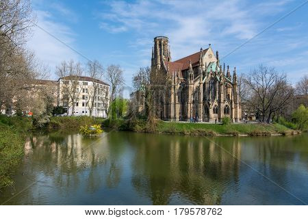 Feuersee Stuttgart Germany Europe Cathedral Religious Old Architecture Destination Visit Travel City