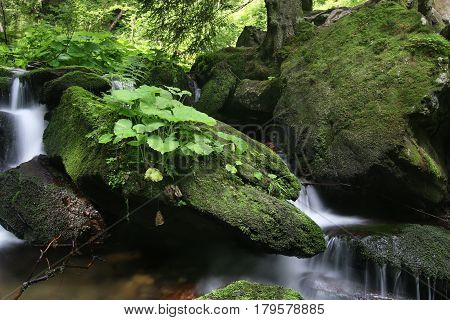 Image of the boulders and flowing water