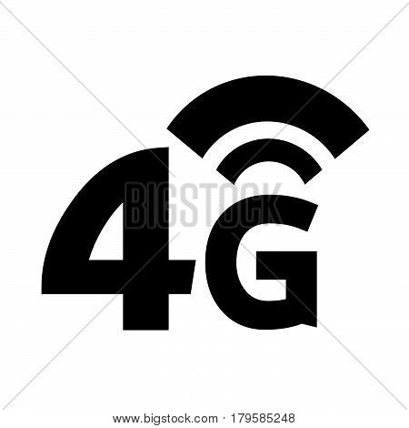 an images of Or pictogram 4G Wireless Wifi icon