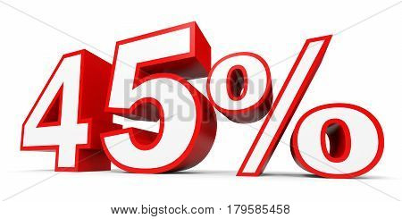 Forty Five Percent Off. Discount 45 %.