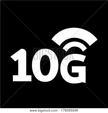 an images of Or pictogram 10G Wireless Wifi icon