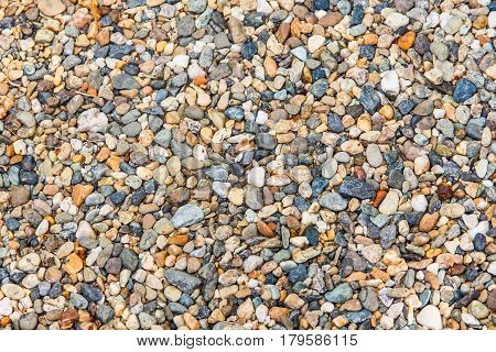 Gravel stone texture multicolored blue and yellow