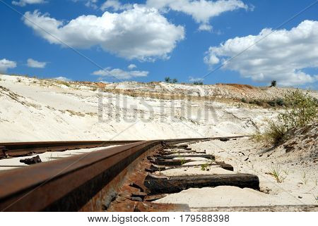 Old branch line in sandy to career