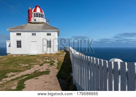 One of the two lighthouses at Cape Spear, Newfoundland