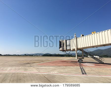 Aerobridge for support passenger in the airport