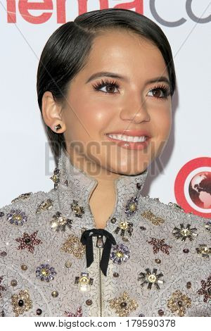 LAS VEGAS - MAR 30:  Isabela Moner at the CinemaCon 2017 - The CinemaCon Big Screen Achievement Awards at the Caesars Palace on March 30, 2017 in Las Vegas, NV