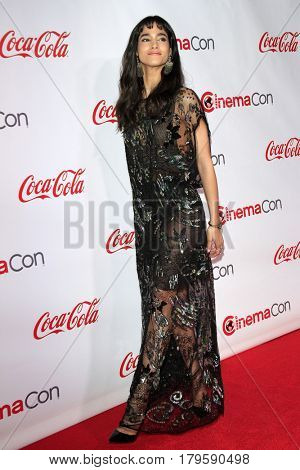 LAS VEGAS - MAR 30:  Sofia Boutella at the CinemaCon 2017 - The CinemaCon Big Screen Achievement Awards at the Caesars Palace on March 30, 2017 in Las Vegas, NV