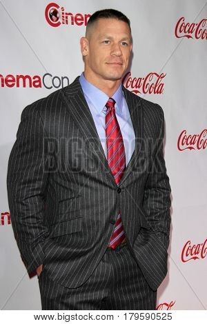 LAS VEGAS - MAR 30:  John Cena at the CinemaCon 2017 - The CinemaCon Big Screen Achievement Awards at the Caesars Palace on March 30, 2017 in Las Vegas, NV