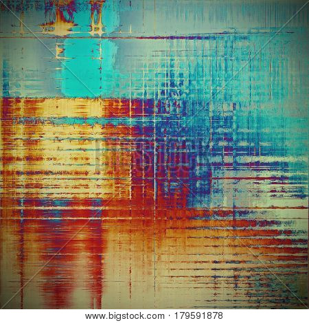 Abstract grunge background. With different color patterns: yellow (beige); blue; gray; red (orange); purple (violet); cyan