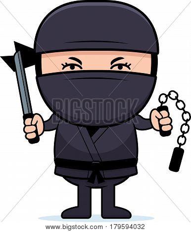 Cartoon Little Ninja Weapons