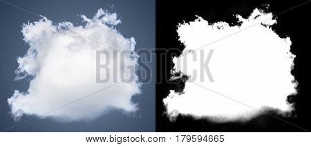 White Cloud Cut-out Mask