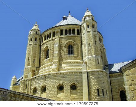Israel. Jerusalem. Old city. The south wall. Dormition Monastery (Assumption) on Mount Zion