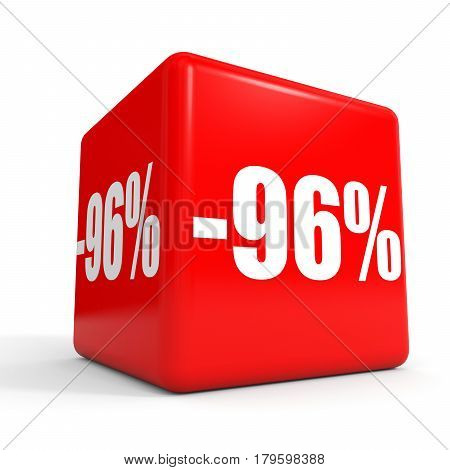 Ninety Six Percent Off. Discount 96 %. Red Cube.