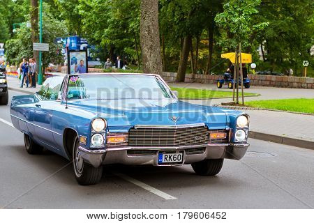 Parade Of American Cars Cadillac In Palanga