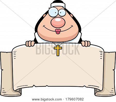 Cartoon Nun Banner