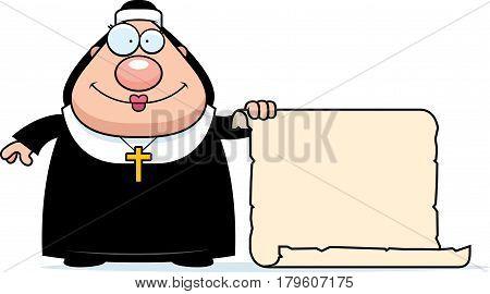 Cartoon Nun Sign