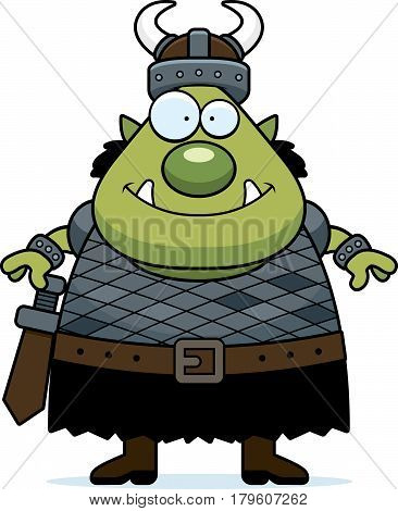 Smiling Cartoon Orc