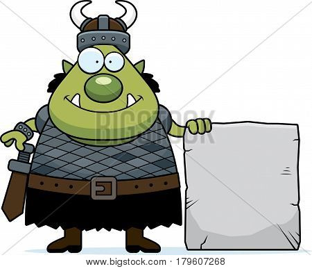 Cartoon Orc Stone