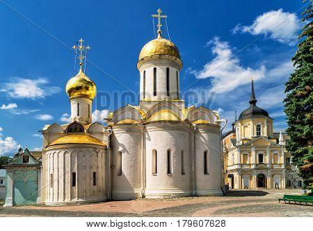 Trinity Cathedral in Trinity Sergius Lavra. Sergiyev Posad, Russia